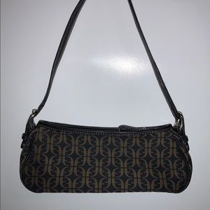 Fossil purse small nylon brown and black